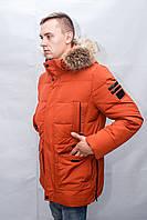 Зимняя куртка пуховик мужская парка длинная