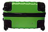 Комплект пластиковых дорожных чемоданов на колесах  Siker Line набор 3 штуки салатовый, фото 8