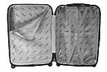 Комплект пластиковых дорожных чемоданов на колесах  Siker Line набор 3 штуки салатовый, фото 9