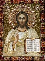 """Алмазная икона для викладки камнями """"Иисус Христос Господь Вседержитель"""""""