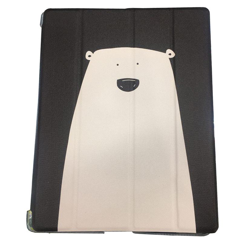 """Кожаный чехол-книжка TTX Elegant Animals для Apple iPad 9,7"""" (2017) Белый медведь"""