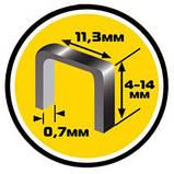 Cкоба каленная A/53 (1000шт), 10мм х 0.7мм х 11.3мм, фото 2