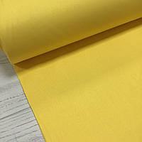 Ткань поплин De Luxe, однотонный ярко-желтый (Турция шир. 2,4 м) №32-19b