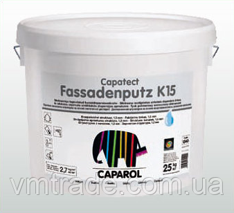 Caparol Штукатурка фасадная дисперсионная Capatect Fassadenputz K15, 25 кг