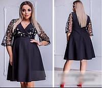 Сукня жіноча з завищеною талією, з 48 по 58 розмір, фото 1