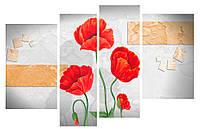 Модульная картина Декор Карпаты 110х70 см Маки (M4-224-1)