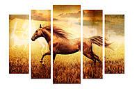 Модульная картина Декор Карпаты 120х80 см Лошадь (M5-271)