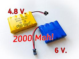 Аккумулятор,акамулятор,для игрушки на пульту на управлении, радиоуправлении 4.8 V,6 вольт, 7,2 вольта