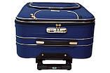 Набор дорожных чемоданов Siker Lux 3 штуки синий, фото 7