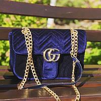 Женская сумочка Gucci (Гуччи), синий цвет
