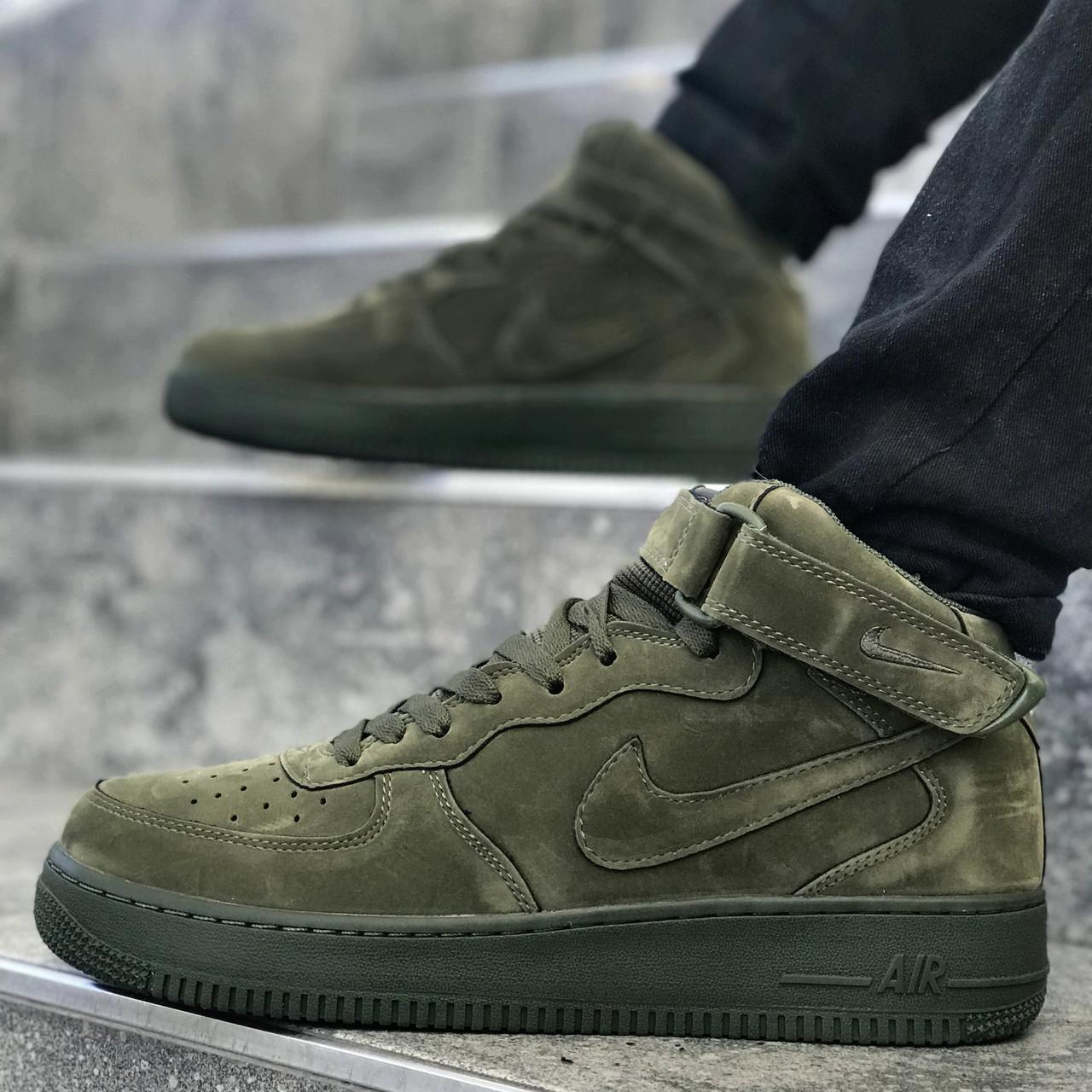 "Кроссовки Nike Air Force 1 Mid ""Legion Green"" (Зеленые)"