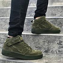 "Кроссовки Nike Air Force 1 Mid ""Legion Green"" (Зеленые), фото 2"