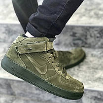 "Кроссовки Nike Air Force 1 Mid ""Legion Green"" (Зеленые), фото 3"