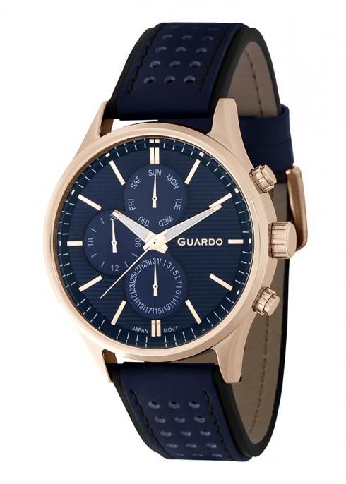 Чоловічі наручні годинники Guardo P11647 RgBlBl
