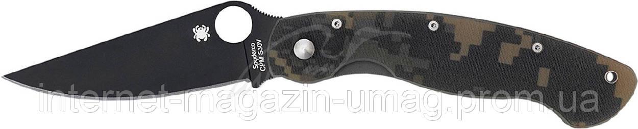 Нож Spyderco Military Black Blade, камо