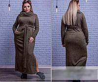 Платье длинное с воротником хомут, с 48 по 58 размер, фото 1