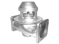 """Пневматический донный клапан 4"""" на 5"""" двухсторонний с фильтром из нерж. стали"""