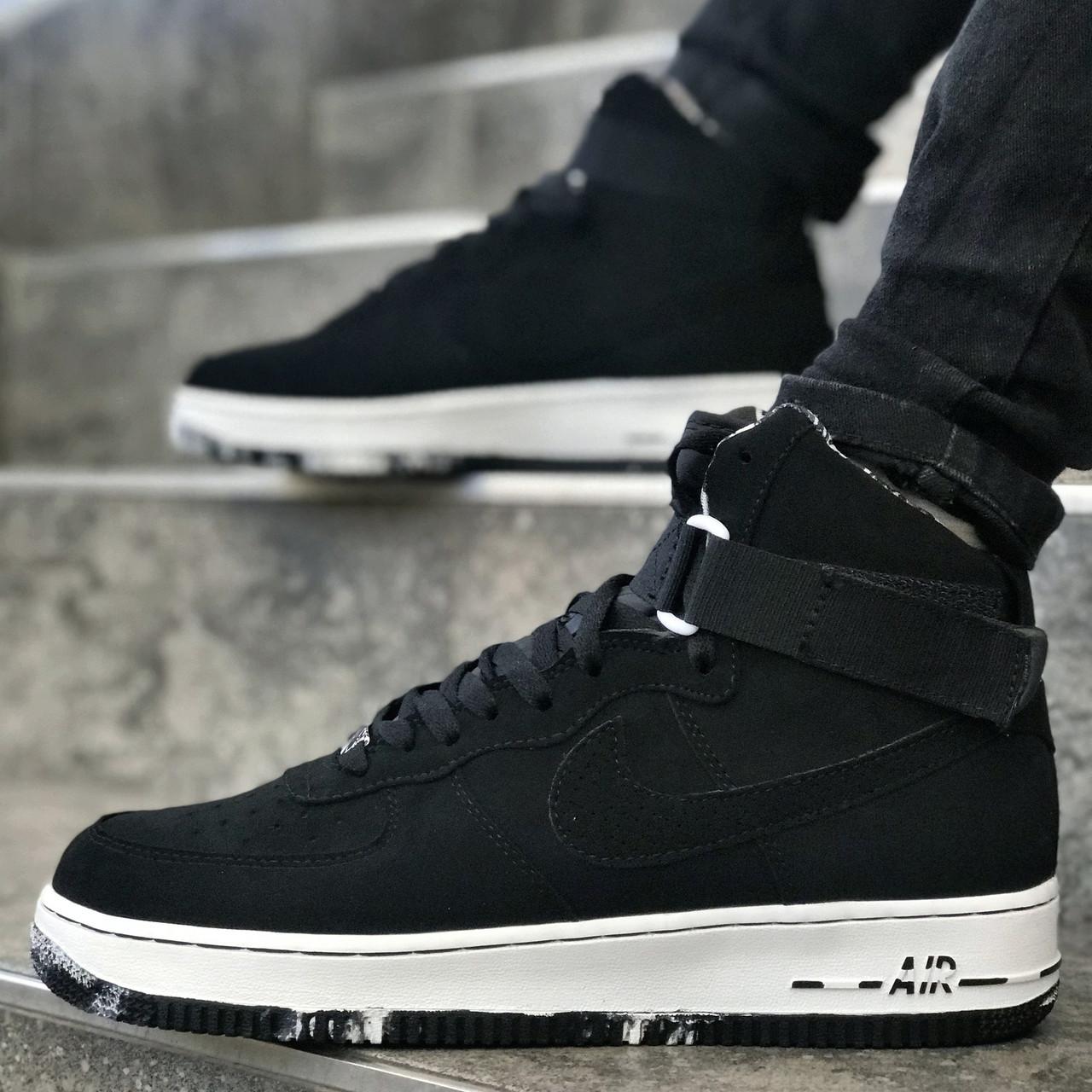 """Кроссовки Nike Air Force 1 Mid """"Black/White"""" (Черные/Белые)"""