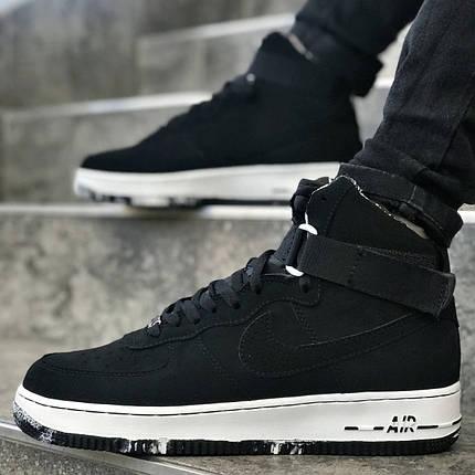 """Кроссовки Nike Air Force 1 Mid """"Black/White"""" (Черные/Белые), фото 2"""