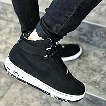 """Кроссовки Nike Air Force 1 Mid """"Black/White"""" (Черные/Белые), фото 3"""