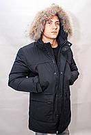 Зимняя куртка парка  пуховик мужская аляска длинная теплая