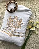 Махровий халат з іменною вишивкою, фото 6