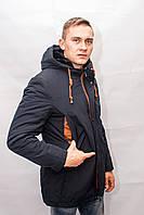 Зимняя мужская куртка пуховик парка теплая длинная с капюшоном