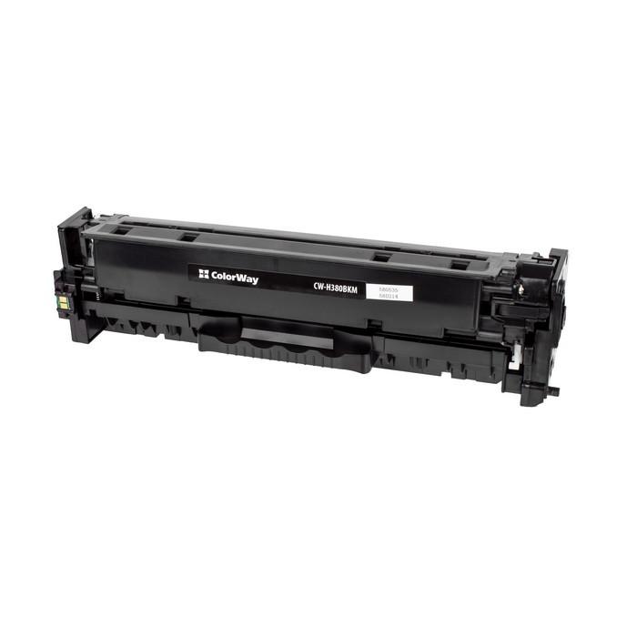 Картридж HP 312A (CF380A), Black 2.4k, ColorWay CW-H380BKM