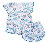 Пижама летняя для девочки, р.60, рост 98-110 см, фото 1
