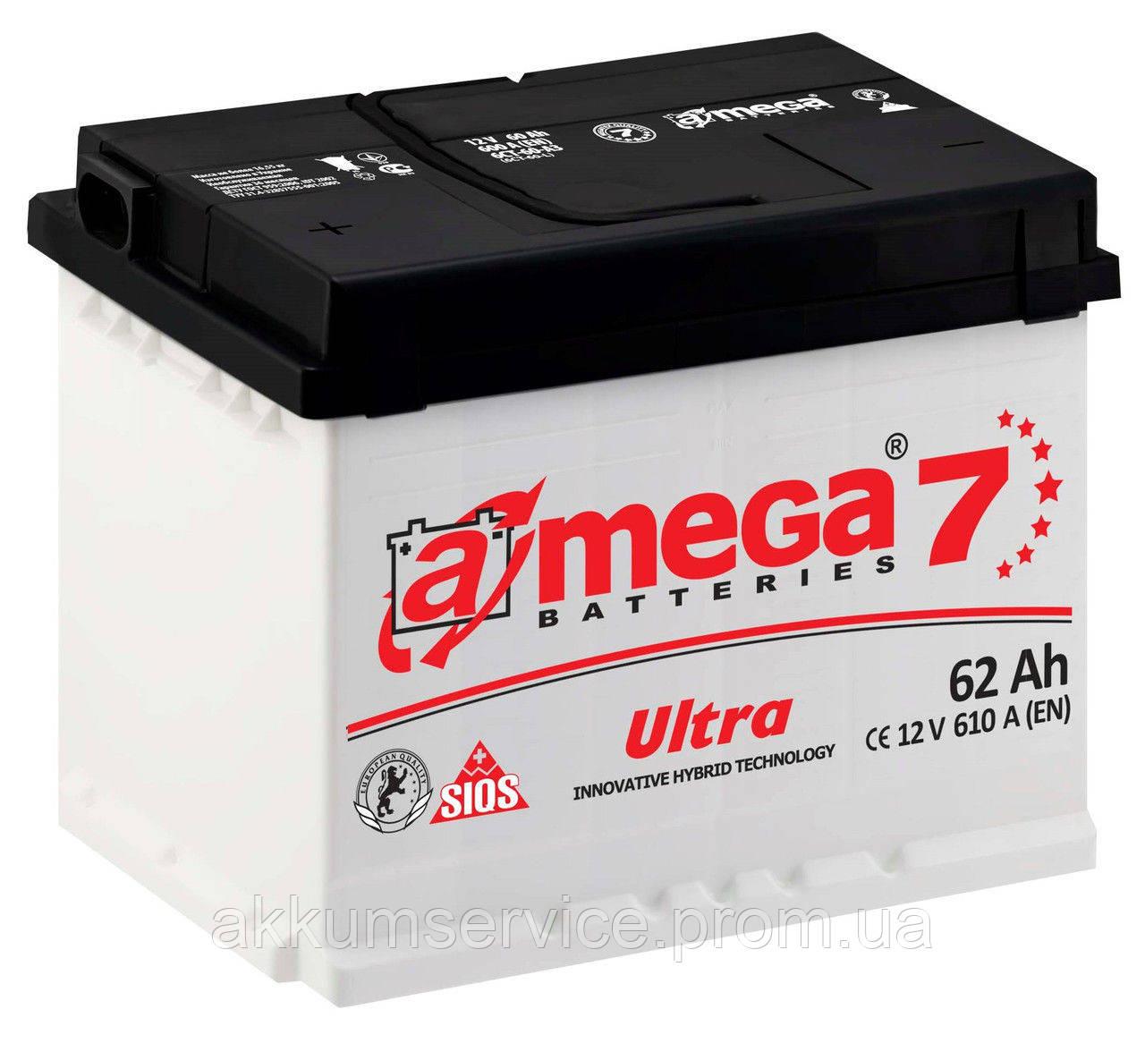 Аккумулятор автомобильный A-Mega Ultra М7 62AH L+ 610A