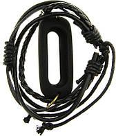 Ремешок UWatch Rubber Pendant Holder Leather Bracelet Strap Band For Xiaomi Mi Band 2 Black, фото 1