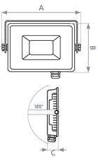 Светодиодный прожектор LED DELUX FMI10 100W, фото 3