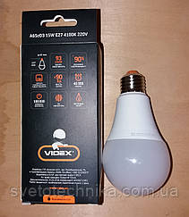 LED лампа VIDEX A65eD3 15W E274100K 220V с регулировкой яркости