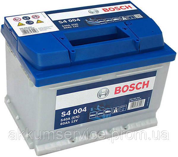 Аккумулятор автомобильный Bosch S4 60AH R+ 540А (S4004)