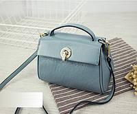 Женская сумочка из натуральной кожи голубая опт, фото 1