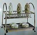 Сушка для посуды двухъярусная GA Dynasty из нержавеющей стали 17308, фото 3