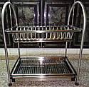 Сушка для посуды двухъярусная GA Dynasty из нержавеющей стали 17308, фото 5