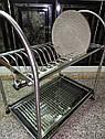 Сушка для посуды двухъярусная GA Dynasty из нержавеющей стали 17308, фото 8