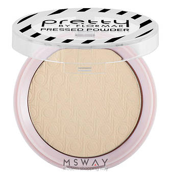 FlorMar PRETTY - Пудра компактная матирующая Mattifying Pressed Powder Тон 02 light porcelain beige, фото 2