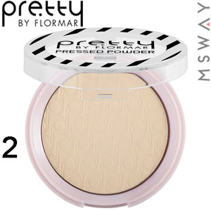 FlorMar PRETTY - Пудра компактная матирующая Mattifying Pressed Powder Тон 02 light porcelain beige