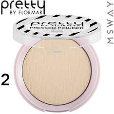 FlorMar PRETTY - Пудра компактная матирующая Mattifying Pressed Powder Тон 02 light porcelain beige