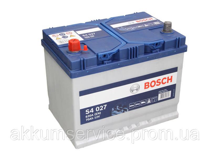 Акумулятор автомобільний Bosch S4 Asia Silver 70Ah L+ 630A (S4 027)