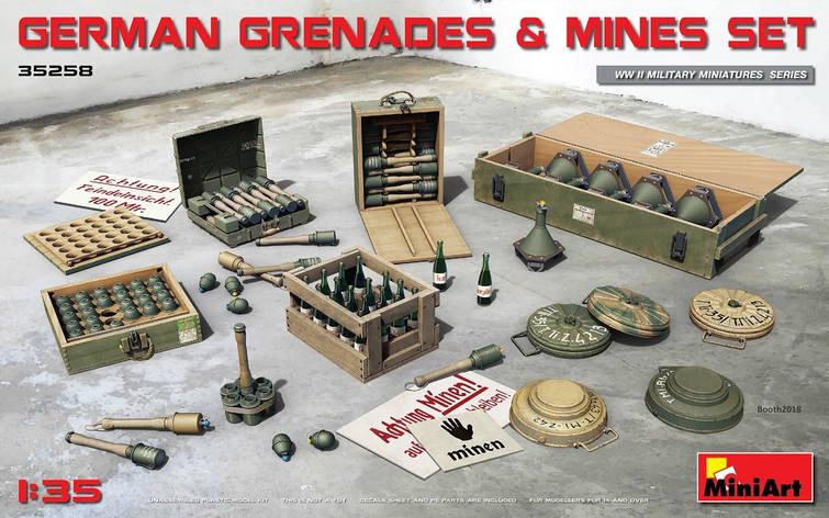 Набор немецких гранат с минами. 1/35 MINIART 35258, фото 2