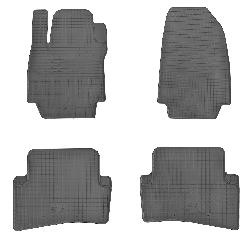 Коврики в салон Renault Captur 13-/ Clio III 05-/ Clio IV 12-  (комплект - 4 шт)