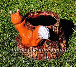 Садовая фигура цветочник Пенек с бельчатами, фото 3