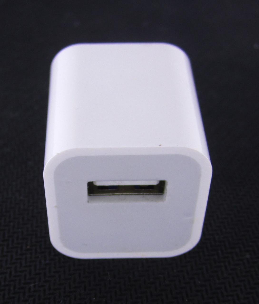 Сетевое зарядное устройство apple usb 5v 1.0a для iphone (original 90%)