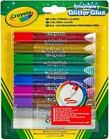 Жидкий клей с блестками (9 цветов), Crayola