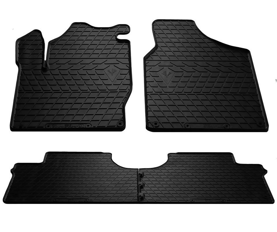 Коврики в салон VW Sharan 95-/Seat Alhambra I 96-/ Ford Galaxy 95-(design 2016) (комплект - 4 шт)
