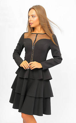 Нарядное коктейльное платье с воланами 42-48 р, фото 2