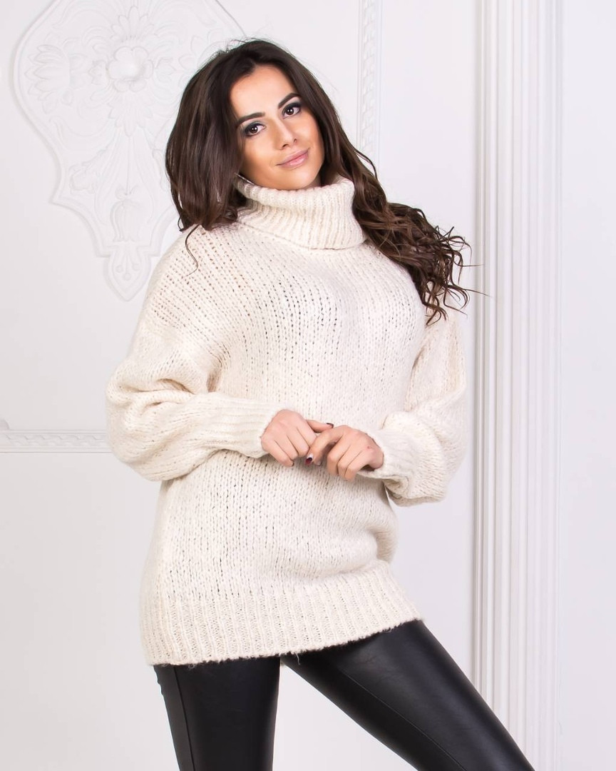 e2e5f236ff7 Женский тёплый вязаный свитер (5 цветов)  продажа